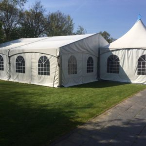 Luxe aluminium tent 10 x 5 meter - Top Party Verhuur